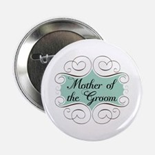 "Mother of the Groom Aqua 2.25"" Button"