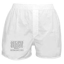 Deuteronomy 21:18-21 Boxer Shorts