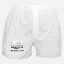 Deuteronomy 21:18-21 Boxer Shorts