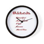 B.i.t.c.h. Wall Clock