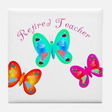Retired Teacher II Tile Coaster