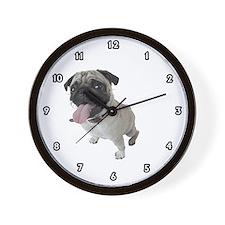Pug Dog Wall Clock