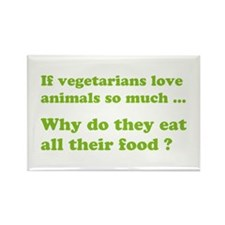 Vegetarians : The Reality Rectangle Magnet