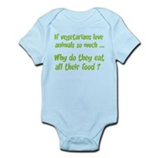 Vegetarians Sarcasm Infant Bodysuit