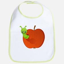 Worm in apple Bib