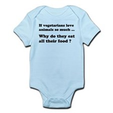Vegetarians : The Reality Infant Bodysuit