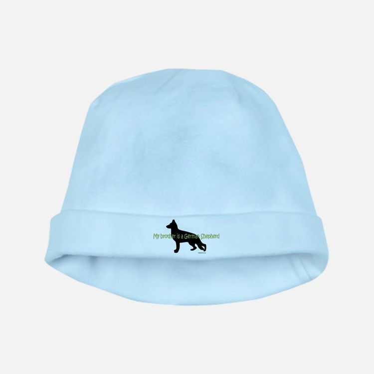 My Brother is a German Shepherd baby hat