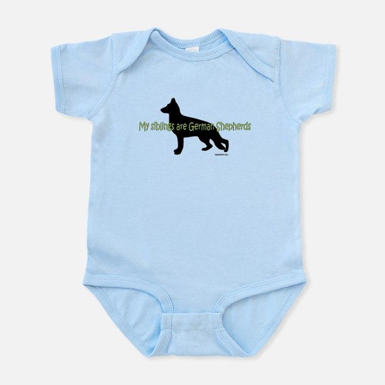 My Siblings are German Shepherds Infant Bodysuit