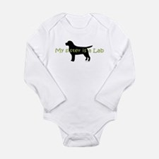 My Sister is a Lab Long Sleeve Infant Bodysuit