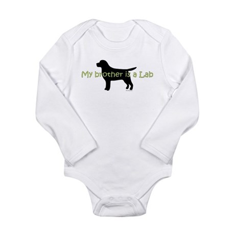 My Brother is a Lab Long Sleeve Infant Bodysuit