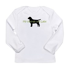 My Siblings are Labs Long Sleeve Infant T-Shirt