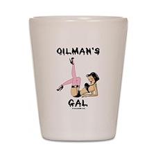 Oilman's Gal Shot Glass,Roughneck Girl,Oil