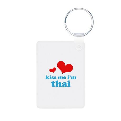 Kiss Me I'm Thai Aluminum Photo Keychain