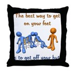 The Best Way Throw Pillow