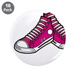 "Pink Basketball Sneakers 3.5"" Button (10 Pk)"