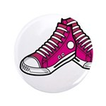"Pink Basketball Sneakers 3.5"" Button"