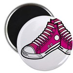 "Pink Basketball Sneakers 2.25"" Magnet (10 Pk)"