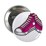 "Pink Basketball Sneakers 2.25"" Button (10 Pk)"
