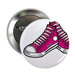 "Pink Basketball Sneakers 2.25"" Button"