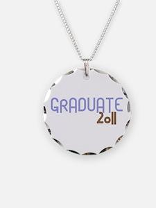 Graduate 2011 (Retro Purple) Necklace