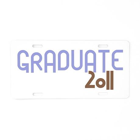 Graduate 2011 (Retro Purple) Aluminum License Plat