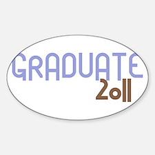 Graduate 2011 (Retro Purple) Decal