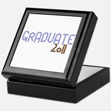 Graduate 2011 (Retro Purple) Keepsake Box