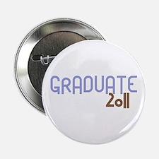 """Graduate 2011 (Retro Purple) 2.25"""" Button"""