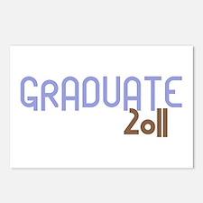 Graduate 2011 (Retro Purple) Postcards (Package of