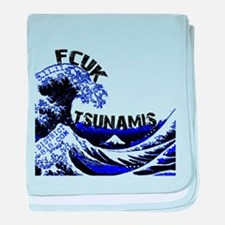 FCUK TSUNAMIS - JAPAN RELIEF baby blanket