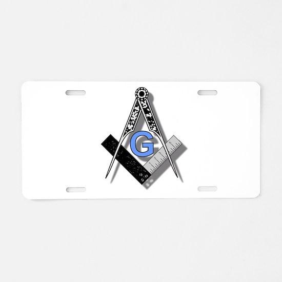 Masonic Square and Compass #2 Aluminum License Pla