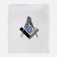 Masonic Square and Compass #2 Throw Blanket