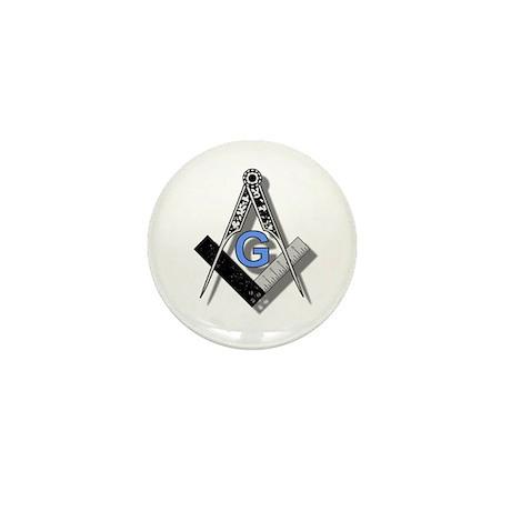 Masonic Square and Compass #2 Mini Button (10 pack