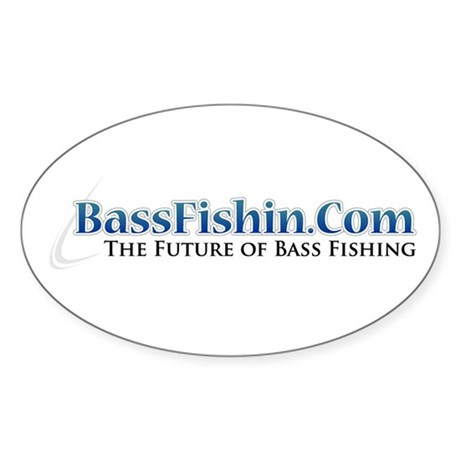 BassFishin.Com Sticker (Oval)