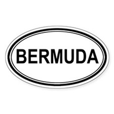 Bermuda Euro Oval Decal