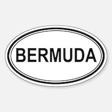 Bermuda Euro Oval Decal