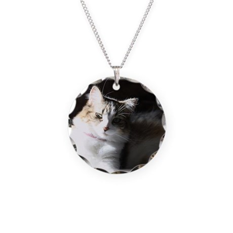 Miss Fluff Necklace Circle Charm