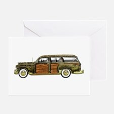 Classic Woody Station wagon Greeting Card