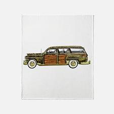 Classic Woody Station wagon Throw Blanket