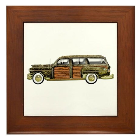 Classic Woody Station wagon Framed Tile