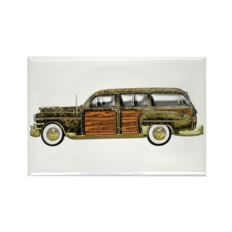 Classic Woody Station wagon Rectangle Magnet (10 p