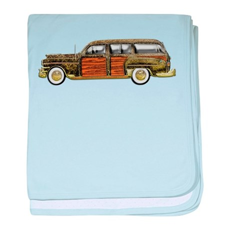 Classic Woody Station wagon baby blanket