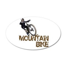 Mountain Bike 22x14 Oval Wall Peel