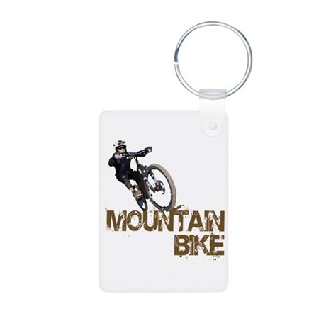 Mountain Bike Aluminum Photo Keychain