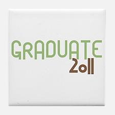 Graduate 2011 (Retro Green) Tile Coaster