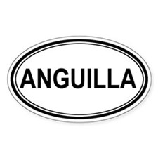 Anguilla Euro Oval Decal