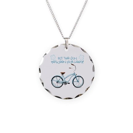 Put the Fun Between Your Legs - light blue Necklac