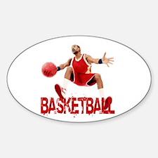 Funny Streetball Sticker (Oval)
