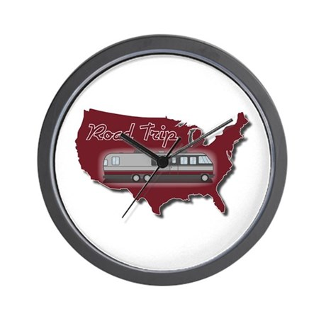 Classic Airstream Motor Home Wall Clock