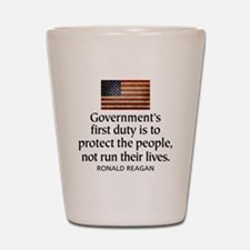 Government's first duty is to Shot Glass